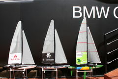 BMW Oracle miniature sailboats Stock Photography