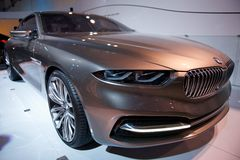 BMW Pininfarina Gran Lusso V12. BMW Pininfarina Gran Lusso Coupe Concept on display Royalty Free Stock Photography