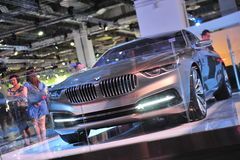 BMW Pininfarina Grand Lusso coupe concept on display at BMW World 2014 Royalty Free Stock Photo