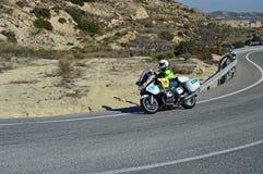 BMW-Politiemotorfiets Stock Afbeelding