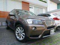 BMW X3 przejażdżka 3 5i parkujący w San Isidro okręgu Lima Obrazy Stock
