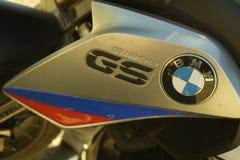 BMW R1200GS em declive Foto de Stock
