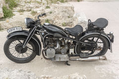 BMW R12 motorcycle in Rhodes old town Stock Photography