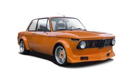 BMW 2002 race tuned Royalty Free Stock Image