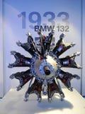 BMW 132 radiell motor på skärm i BMW museet Royaltyfri Bild
