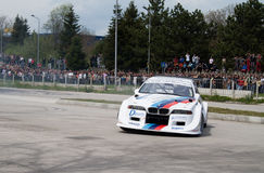 BMW rally racing Veliko Tarnovo Stock Photo