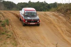 BMW Rallye汽车 免版税库存图片
