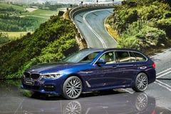 BMW 5 Reeksen het Reizen auto Stock Foto's