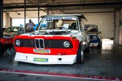 BMW Rennwagen mit 3 Reihen Lizenzfreie Stockfotografie