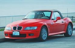 BMW rosso sportscar Fotografia Stock