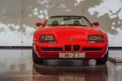 BMW rosso Z1 al museo di BMW Immagine Stock Libera da Diritti