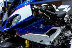 BMW rr à l'expo internationale 2016 de moteur de la Thaïlande Images libres de droits