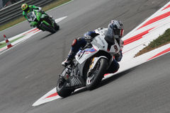 BMW S1000 rr - BMW Motorrad Motorsport de Leon Haslam Photographie stock libre de droits