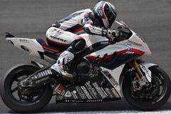 BMW S1000 rr - BMW Motorrad Motorsport de Troy Corser images libres de droits