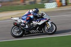 BMW S1000 rr van Haslam van Leon - BMW Motorrad Motorsport Stock Fotografie