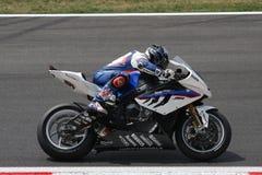 BMW S1000 rr van Haslam van Leon - BMW Motorrad Motorsport Stock Foto's