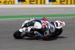 BMW S1000 rr van Haslam van Leon - BMW Motorrad Motorsport Royalty-vrije Stock Foto