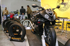 BMW S1000RR and Continental tires Stock Image