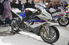 BMW S1000RR in EICMA 2011 Stock Photos