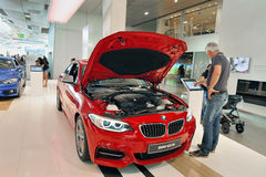 At BMW Salon Stock Image