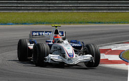 BMW Sauber F1 Team Robert Kubica F1.07 Polish Pola Royalty Free Stock Photos