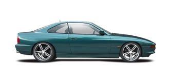 BMW serie 8 som isoleras på vit Royaltyfria Bilder