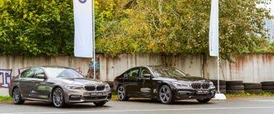 BMW 5-7-series автомобиля, немецкий баварский изготовитель Стоковая Фотография RF