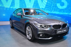 BMW 4 Series Coupe Cabriolet car. Guangzhou, China - November 23, 2013: BMW 4 Series Coupe Cabriolet car was exhibited in the 11th China (Guangzhou) Royalty Free Stock Photos