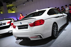BMW 4 series coupe on display at BMW World 2014 Royalty Free Stock Image