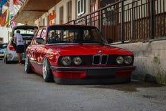 BMW 5series e28 sur l'événement au sol 2018 images libres de droits