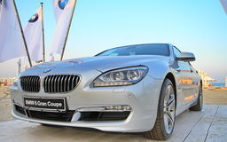 BMW 6 series - Grand Coupe. Close-up on new BMW 6 series - Grand Coupe at the beach Stock Photos