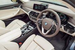 BMW 5-Series 2017 inre Fotografering för Bildbyråer