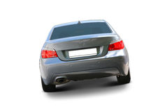 BMW 5 Series Luxury car. BMW 5 Series Sedan Luxury car back view - includes separate clipping paths and realistic shadows royalty free stock images