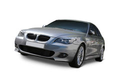 BMW 5 Series Luxury car. BMW 5 Series Sedan Luxury car front view - includes separate clipping paths and realistic shadows royalty free stock photo