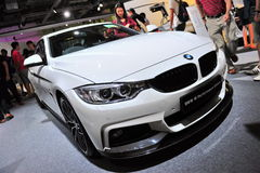 BMW 3 series M performance edition sports sedan on display at BMW World 2014 Royalty Free Stock Image