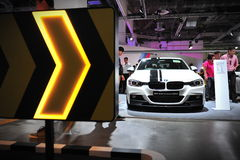 BMW 3 series M performance edition sports sedan on display at BMW World 2014 Royalty Free Stock Photography