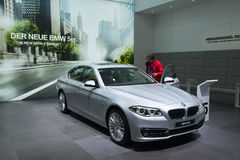 BMW 5 Series New generation - world premiere Stock Image