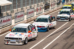 BMW 3 series racing cars Stock Photography