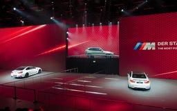 BMW show på IAA-bilarna Fotografering för Bildbyråer