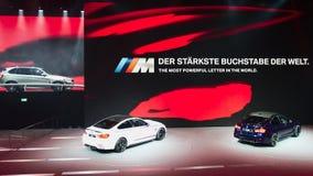 BMW show på IAA-bilarna Arkivbilder