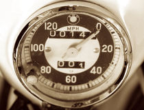 BMW speedometer. Speedometer for BMW R50 Motorcycle Royalty Free Stock Photos