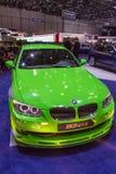 Green sports car Royalty Free Stock Image