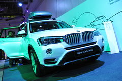 BMW X3 sports utility vehicle on display at BMW World 2014 Royalty Free Stock Photo