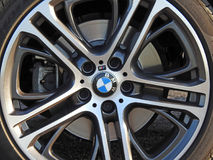 Bmw sportscar alloy wheel. Photo of bmw sportscar alloy wheel on display at whitstable outdoor car show august 13th 2017 Stock Images