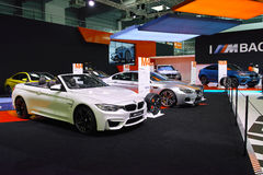 BMW Stand: M4 Cabrio & M6 Gran Coupe Royalty Free Stock Images