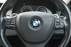 BMW Steering Wheel Stock Image