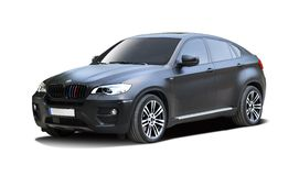 BMW SUV X6M car. Isolated on white Royalty Free Stock Images