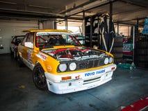 BMW tävlings- bil för 3 serie Arkivbilder
