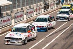 BMW tävlings- bilar för 3 serie Arkivbild