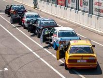 BMW tävlings- bilar för 3 serie Arkivfoto